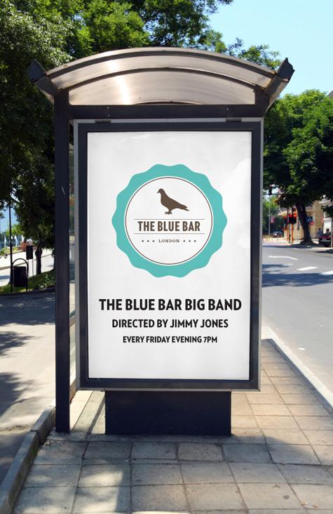 The Blue Bar billboard