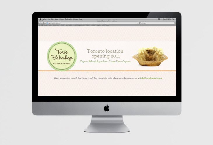 Tori's Bakeshop Website