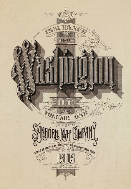Sanborn Fire Insurance Map Typography