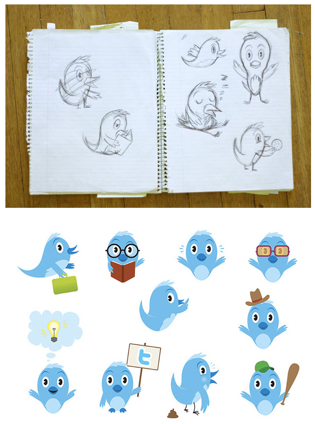 Redesigning the Twitter Bird Logo