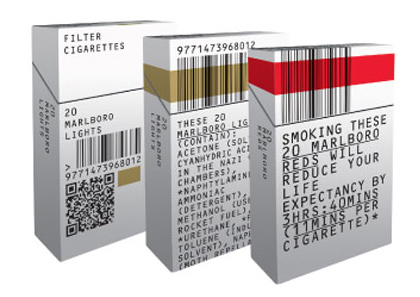 unbranded cigarette pack