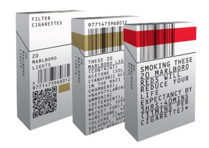 unbranded cigarette pack